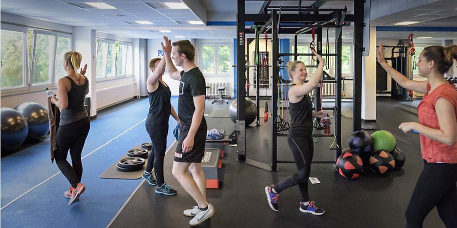 Unsere Trainingsfläche ist aufgebaut wie eine Athletikbox im Profisport