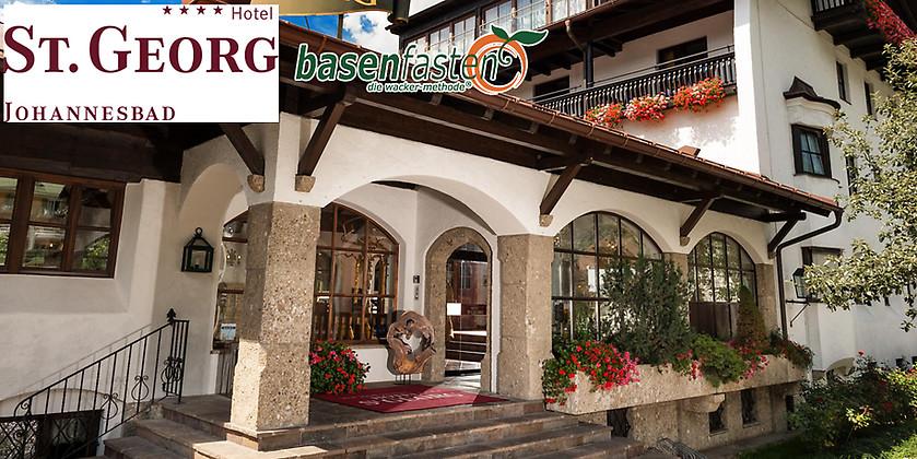 Gutschein für Basenfasten nach Sabine Wacker - 3 Übernachtungen für 2 Personen zum halben Preis! von  Johannesbad Hotel St. Georg