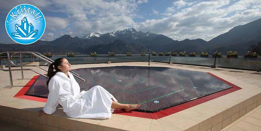 Gutschein für Ihre Tageskarte für Sauna und Thermalbad zum halben Preis! von Kristall Therme Kochel am See