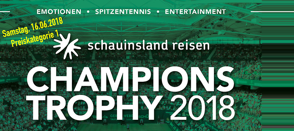 Gutschein für 2 Tickets (PK1) für das Mixed am 16.06.2018 zum Preis von einem! von Die Champions Trophy im GERRY WEBER STADION