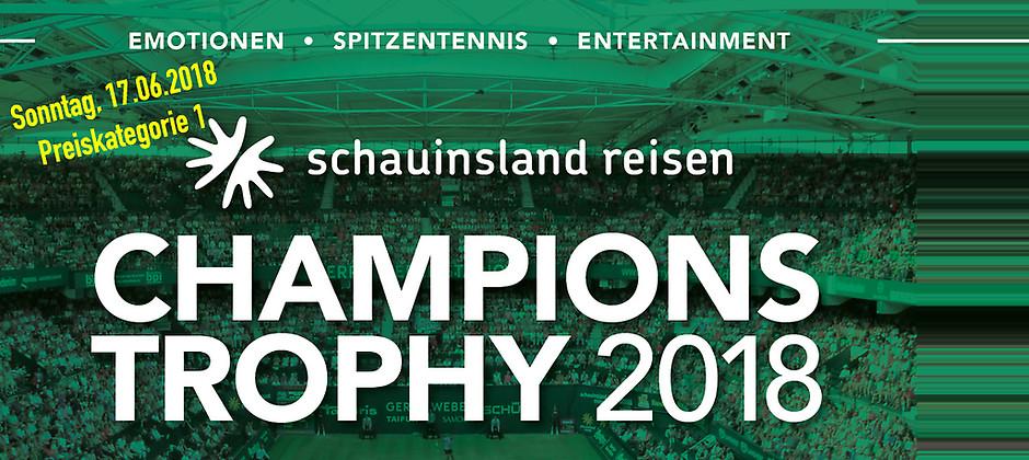 Gutschein für 2 Tickets (PK1) für das Herren-Doppel am 17.06.2018 zum Preis von einem! von Die Champions Trophy im GERRY WEBER STADION
