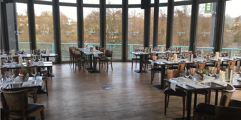 Stylischer Atmosphäre direkt an der Ruhr