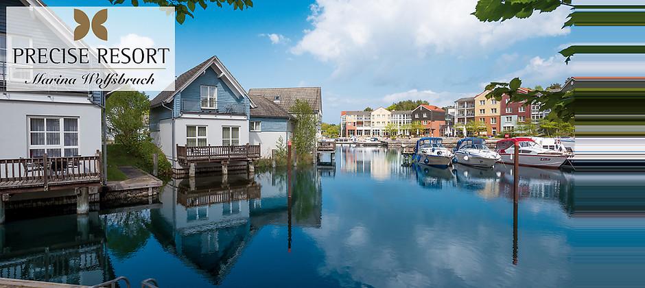 Gutschein für 2 Übernachtungen für 2 Personen an der Mecklenburgischen Seenplatte zum halben Preis! von Precise Resort Marina Wolfsbruch