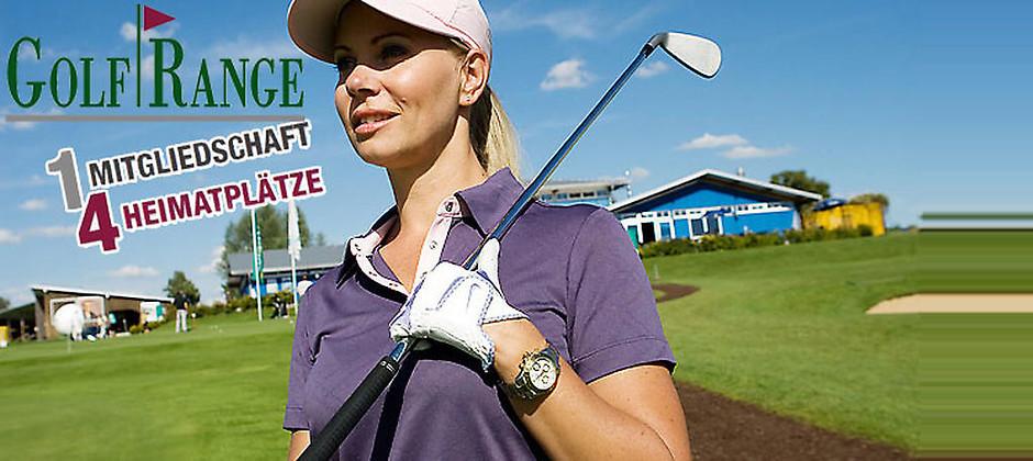 Gutschein für 1 Jahr auf 4 Golfanlagen rund um München spielen! von GolfRange
