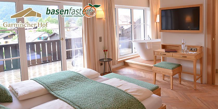 Gutschein für Basenfasten nach Sabine Wacker - 3 Übernachtungen für 2 Personen zum halben Preis! von Hotel Garmischer Hof